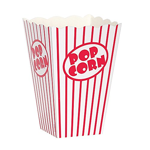 Movie Theater Red and White Striped Popcorn Boxes, 10ct (Popcorn Red White compare prices)