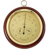 Barometer mit Thermometer und Hygrometer Farbe: Nussbaum