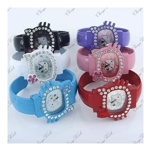 Miss Peggy Jos  (One) Hello Kitty Blue Bracelet Watch Dk47 bl Quartz and a Hello Kitty Necklace***