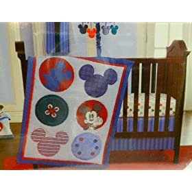 Kidsline, LLC Disney Kidsline Mod (Modern) Mickey Mouse 3 Piece Crib Set at Sears.com