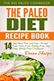 The Paleo Diet Recipe Book: The BIG Paleo Cookbook, 14-Day Meal Plan and Tips - Gluten Free, Dairy Free, Allergy Free, Soy Free, Wheat Free Cookbook