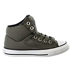 Converse Kid\'s Chuck Taylor All Star High Street Hi Fashion Sneaker Shoe, Charcoal, 13