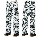 O'Neill Freedom Grunge Mens Snow Ski Pants (White AOP, S)
