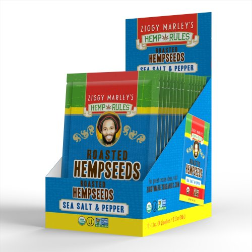 Roasted Hempseeds, Organic - Sea Salt And Pepper, 1.1 Oz Trial Size / 12-Pack front-9069