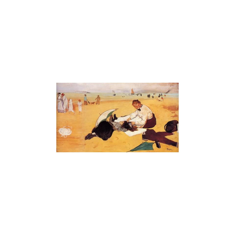 Oil Painting Beach Scene Edgar Degas Hand Painted Art