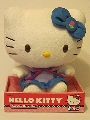 "Hello Kitty Garden Collection 9"" Plush Blue Outfit"