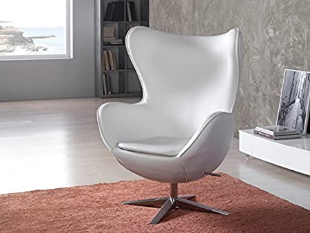 SILLON ·EGG· BLANCO ECOPIEL