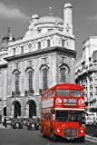 HUGE LAMINATED / ENCAPSULATED London 139 Trafalgar Square Red Bus Piccadilly Circus POSTER measures 36 x 24 inches (91.5 x 61cm