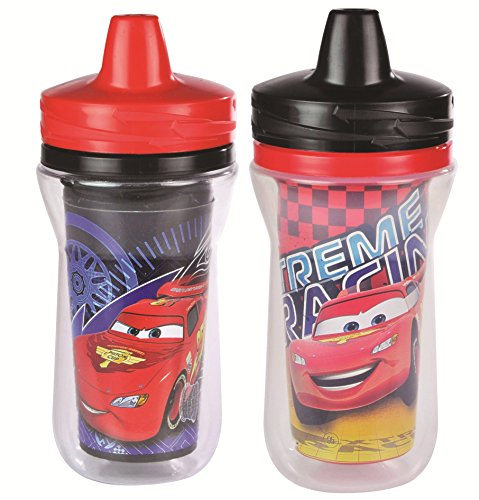 The First Years 2 Pack 9 Ounce Insulated Sippy Cup, Cars/Pattern May Vary (Color and design may vary) (The First Years 2 Pack Sippy Cup compare prices)