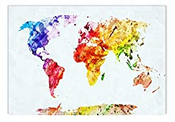 Startonight Wall Art Canvas All Colors Map, Maps USA Design for Home Decor, Dual View Surprise Artwork Modern Framed Ready to Hang Wall Art 23.62 X 35.43 Inch 100% Original Art Painting!