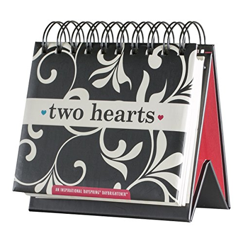 DaySpring Two Hearts, DayBrightener Perpetual Flip Calendar, 366 Days of Inspiration (77911)