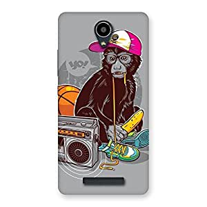 Delighted Monkey Music Back Case Cover for Redmi Note 2
