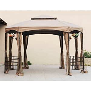 Sienna octagon gazebo replacement canopy and - Screen netting for gazebo ...
