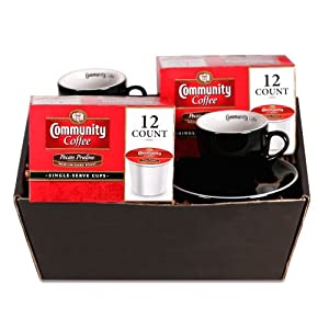 Community Coffee Single Serve Pecan Praline Demitasse Gift Set