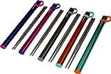Titanium Chopsticks Extra Strong Ultra Lightweight Professional (Ti), Chopsticks Comes with Exclusive Quality Free Aluminium Case