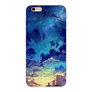 Ajay Enterprises Blue cloud Design Back Case Cover for iPhone 6 Plus 6S Plus