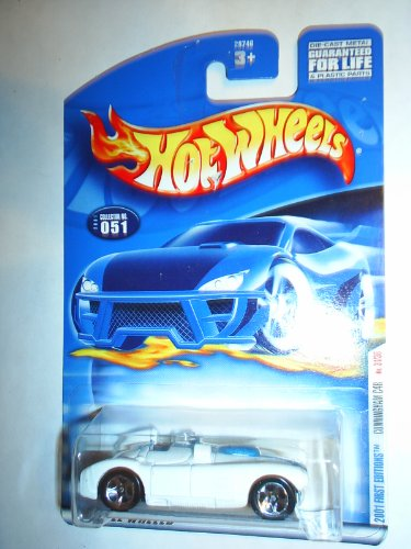 Hot Wheels 2001 First Editions Cunningham C4R 31/36 051 WHITE Convertible 1:64 Scale - 1