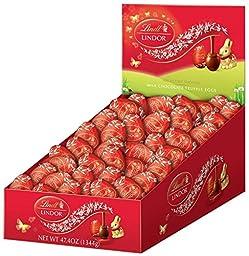 Lindt Chocolate Milk Chocolate Truffle Egg Box, 48 Count
