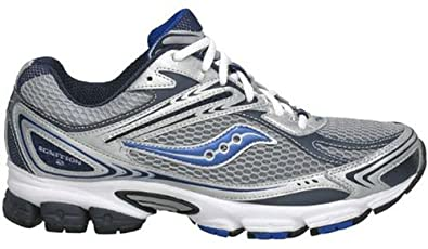 Saucony Men's Grid Ignition 2 Silver/Navy/Royal Running Shoes men's 7.5