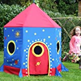 Waterproof Canvas Rocket Play Tent with Wooden Frame for Indoors & Outdoorsby Garden Games Limited