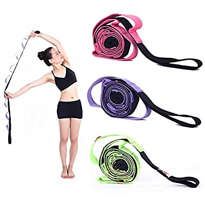 Kottle 10 feste Schleifen Anti-Rutsch strapazierfähiger Baumwolle Yoga Gurt, Multi-Stretching Griffschlaufe für Flexibilität und Physiotherapie-Fitness-Übung