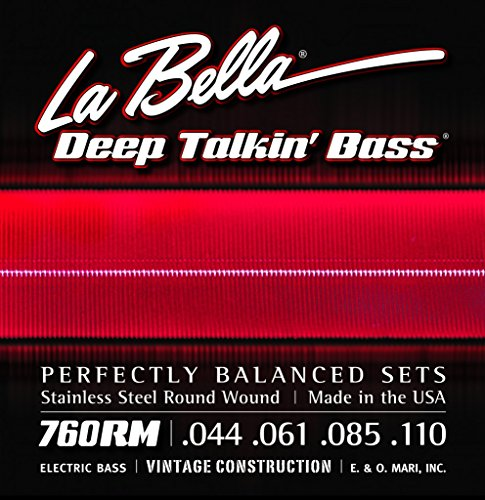 La Bella 760RM Deep Talkin' Bass Roundwound, medium