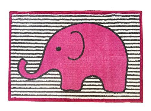 Bacati - Elephants Pink/grey Rug