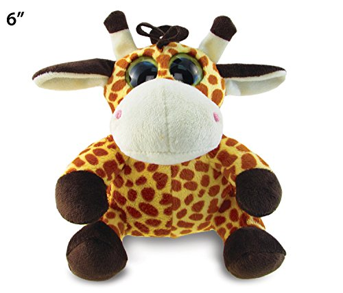 "Big Eye Giraffe Plush, 6"" - 1"
