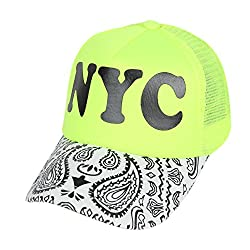 ILU Neon Cap for Boys & Girls, Baseball Cap, Mesh caps, Adjustable Caps, Snapback Caps, Hiphop caps & Hats