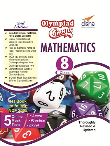 Olympiad Champs Mathematics Class 8 with 5 Mock Online Olympiad Tests