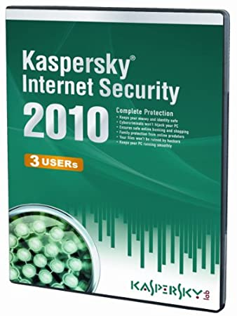 Kaspersky Internet Security 3 User, 1 Year License, 2010 (PC CD)