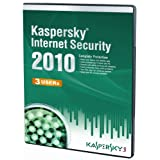 Kaspersky Internet Security 3 User, 1 Year License, 2010 (PC CD)by Kaspersky Lab