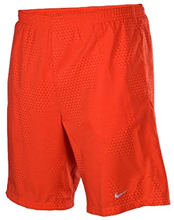 Nike Mens Dri-Fit 9 Distance Running Shorts-Red by Nike