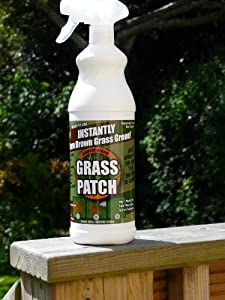 Pet,dog, urine, grass, lawn, patch, burn, penetrates the dead plant material and colours it green, enough to covers up to 75-125 square feet subject to rate of application. Instantly repair brown spots on lawn and bushes 32FLOZ/.946 Litre. Please read instructions before applying.
