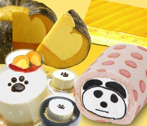 かぼちゃの馬車セット 小玉かぼちゃの焼きプリン NEWぱんだロール(ドットいちご) ネコの手 パンプキンモンブランBOX