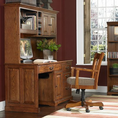 Buy Low Price Comfortable Riverside Seville Square 58 Inch Computer Desk and Hutch – RVS1140 (B0047D6NZ2)