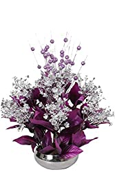 Home decor artificial flowers with pot best quality realistic natural look faux flower arrangement for home decoration and gifts om potters imported artiiial flowers in stainless steel pot
