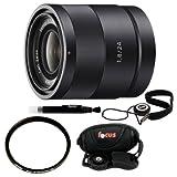 Sony Carl Zeiss Sonnar T E 24mm F1.8 ZA Lens for Sony NEX Cameras + 49mm UV Filter + Lens Pen + Lens Cap Keeper + Professional Camera Strap
