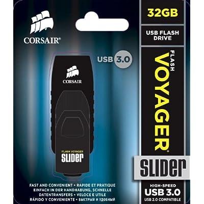 Corsair Flash Voyager Slider USB Drive, USB3.0, 32GB