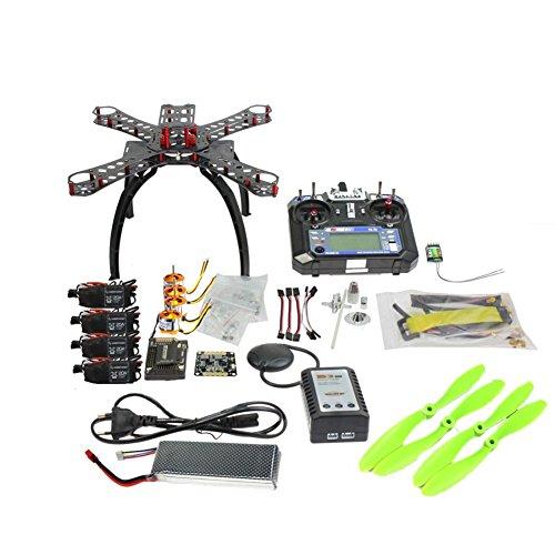 QWinOut Full Kit DIY GPS Drone RC Carbon Fiber Frame Multicopter FPV APM2.8 1400KV Motor 30A ESC flysky 2.4GFS-i6 Transmitter
