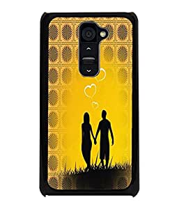 PrintDhaba Couple D-6006 Back Case Cover for LG G2 (Multi-Coloured)