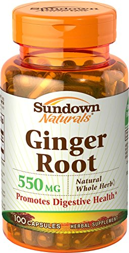 Sundown Naturals Ginger Root, 100 Capsules (Pack of 4)