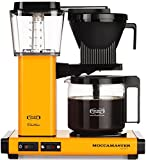 Technivorm-Moccamaster KBG 741 10-Cup Coffee Brewer with Glass Carafe, Yellow Pepper