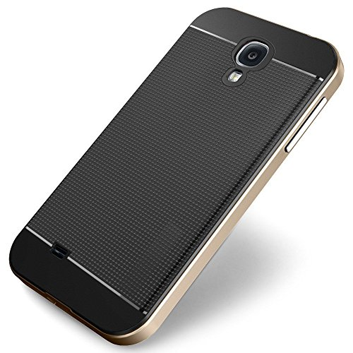 Kapa Neo Hybrid -II Ultra Thin Shockproof Back + Bumper Case Cover for Samsung Galaxy S4 - Gold