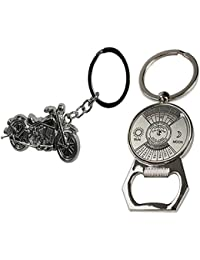 I-gadgets Chopper Bike & Calendar Bottle Opener Keychain, Set Of 2