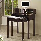 Nesting Computer Desk: Cappuccino
