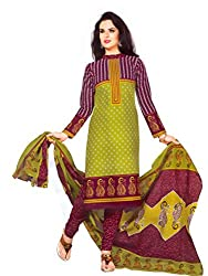 New Summer Collection Women's Cotton Unstitched Dress material (FE0003_Multi-coloured)
