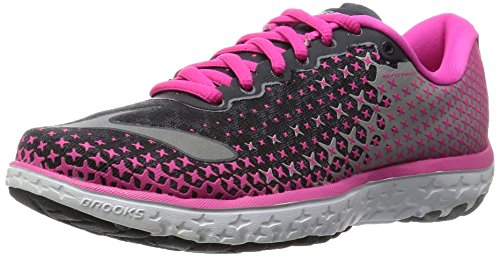 Brooks Women's PureFlow 5 Anthracite/Pink Glow/Alloy Sneaker 8 B (M) (Brooks Running Shoes Women Size 8 compare prices)