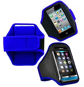 Wayzon Blue Adaptable Sports GYM Jogging Running Riding Bike Cycling Dancing Moving Frisking Armband Case Cover Skin Pouch For Apple iPod Touch 5 5th Generation