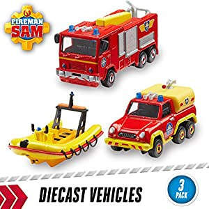 Fireman Sam of Die-Cast (Pack of 3)